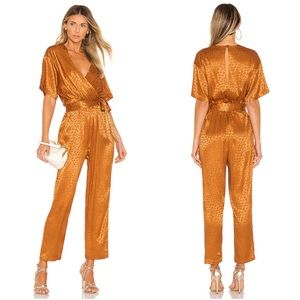 Joie NWT Tau Golden Animal Print Jumpsuit Revolve